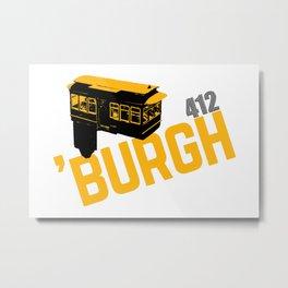 Pittsburgh 'Burgh Incline 412 Print Metal Print