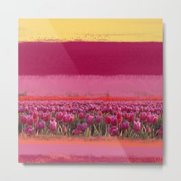 field of tulips Metal Print