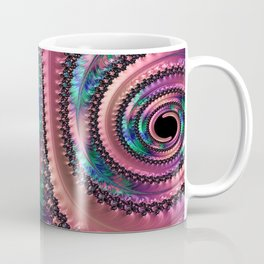 Purple Swirls Fractal Coffee Mug