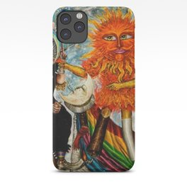 Gatos Malos, or Bad Kitties, portrait surrealist mural painting by A. Colunga iPhone Case