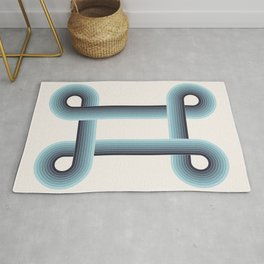 LOOPS - Phthalo Turquoise Rug
