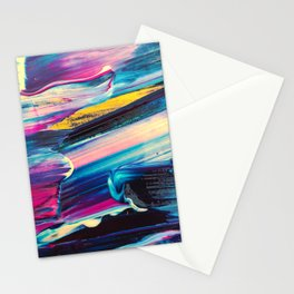 neon brush strokes Stationery Cards
