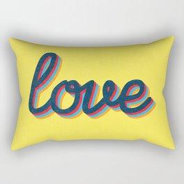 Love - yellow version Rectangular Pillow