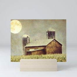 Midsummers Night Rustic Barn Mini Art Print