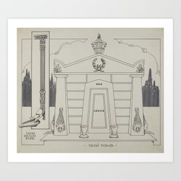 Iron Tomb Thomas Byrne Vintage Architecture Art Print