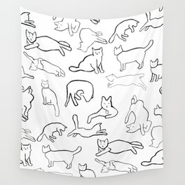 Monochrome cats Wall Tapestry