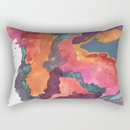 Carnival: a vibrant mixed media piece inspired by New Orleans Rectangular Pillow