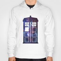 tardis Hoodies featuring Tardis by Zhavorsa