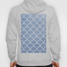 Beautiful textured large scallops in serenity blue Hoody
