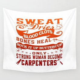 Carpenter Woman Wall Tapestry