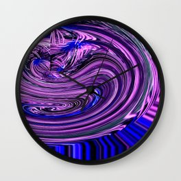 BLUE PURPLE ABSTRACTION Wall Clock