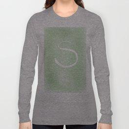 Letter S Long Sleeve T-shirt