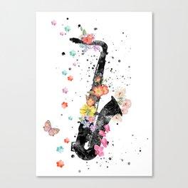 Saxophone, saxophone art Canvas Print