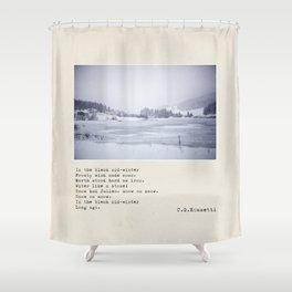 In the bleak mid-winter Shower Curtain