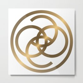 Limited Edition Gold Coco Cashmere Metal Print