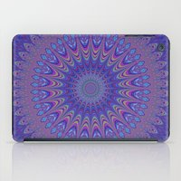 mandala iPad Cases featuring Purple mandala by David Zydd