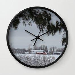 Barn at Knox Farm State Park - Winter 2013 Wall Clock