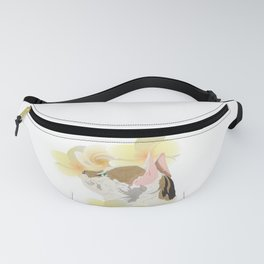 Plumeria and Purrs Fanny Pack