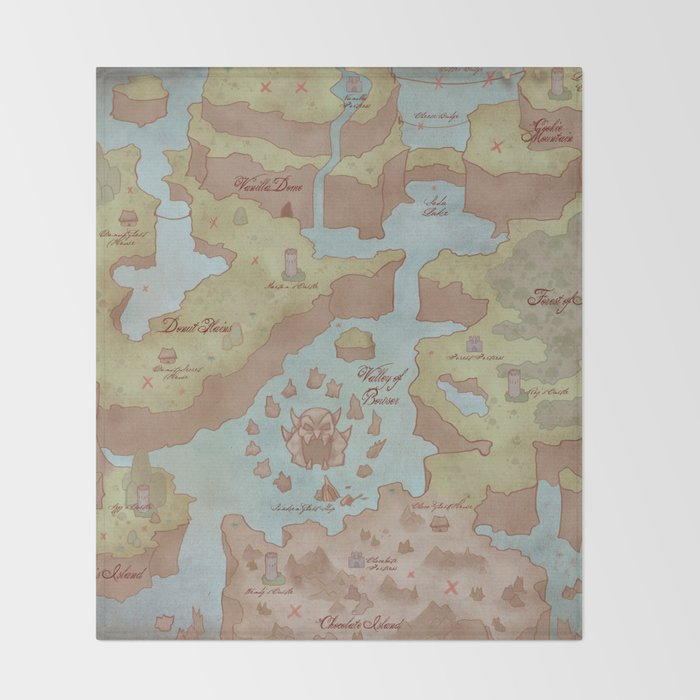 Super mario world map vintage style throw blanket by kazpalladino super mario world map vintage style throw blanket gumiabroncs Images