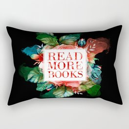 Read More Books - Black Rectangular Pillow