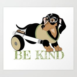 Ricky Bobby #3: Be Kind Art Print