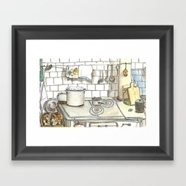 Grandmother's kitchen Framed Art Print