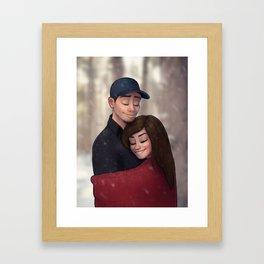 Cute Couple Framed Art Print
