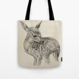 Animal Art | Deer Drawing | Nursery | Baby Room | Fawn | Bambi Tote Bag