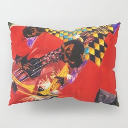 African American Masterpiece 'Village Quartet' by Jacob Lawrence Pillow Sham