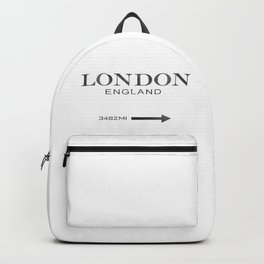 watercolor London England Backpack