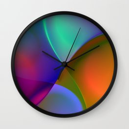 a towel full of colors -9- Wall Clock