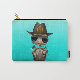 Baby Turtle Zombie Hunter Carry-All Pouch