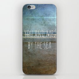 You and me, by the sea iPhone Skin
