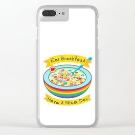 Eat Breakfast! Clear iPhone Case