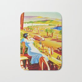 Vintage Nice Italy Travel Bath Mat