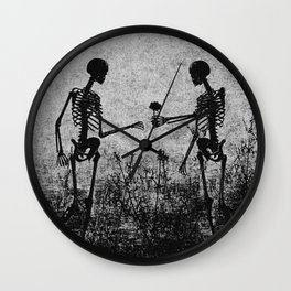 skeleton lovers Wall Clock