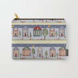 Kids patchwork seamless pattern with houses and trees Carry-All Pouch
