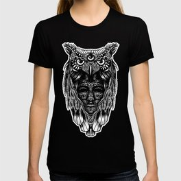 Owl and face T-shirt