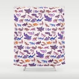 Shark day - pastel Shower Curtain