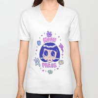magical girl V-neck T-shirts featuring magical girl by Caitlin Roberts