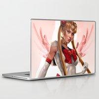 sailor moon Laptop & iPad Skins featuring Sailor Moon by KlsteeleArt