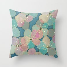 It's Always Summer Somewhere 2 - translucent poppy doodle Throw Pillow