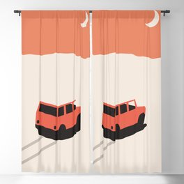Red Car in Desert with Moon Blackout Curtain