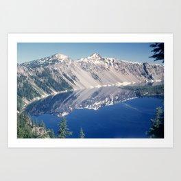 Crater Lake June 1967 Art Print