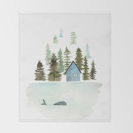 I see a whale! Throw Blanket