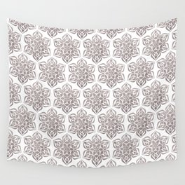 Silver Snowflake Wall Tapestry