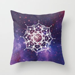 Space Mandala Throw Pillow