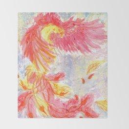 Firey Phoenix Throw Blanket