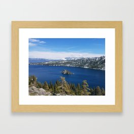 Inspiration Point at Emerald Bay Framed Art Print