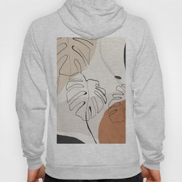Minimal Abstract Art- Monstera Hoody